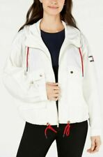 NEW Tommy Hilfiger Womens Oversized Drawstring-Hem Jacket...