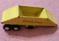 Vintage Yellow Tonka Toys Mini Bottom Dump Trailer Pressed Steel Toy #55160
