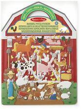 Melissa & Doug REUSABLE PUFFY STICKERS - FARM Creative Toys Activities BN