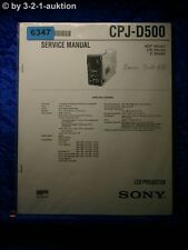 Sony Service Manual CPJ D500 LCD Projector (#6347)