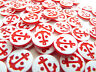 LOT 10 BOUTON ANCRE MARINE MARIN MARINIÈRE ROUGE BLANC SCRAPBOOKING COUTURE