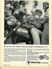 1966 Bridgstone 175 Dual Twin Motorcycle by Rockford Print Ad