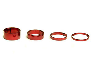 "OMNI Racer WORLDS LIGHTEST Alloy Headset Stem Spacers 1-1/8"" 5,10,15,20mm RED"