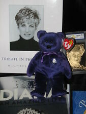 "TY Beanie Babies  ""PRINCESS"" & Lot of Diana Princess of Wales 1997 P.E. PELLETS"