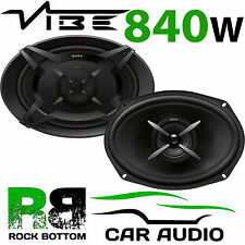 SONY 840 WATTS a Pair 6x9 2 Way Car Van Rear Deck Oval Parcel Shelf Speakers