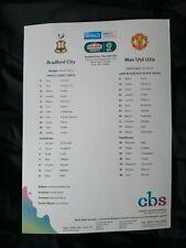More details for 2021/22  bradford city  v  manchester united  mint  programme  s/s  +  ticket