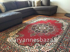 Extra Large Floor Rug Carpet Persian Designer Red 330 x 240 FREE DELIVERY 0046