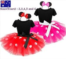 Girls Kids Minnie Mouse Costume Occasional / Birthday Party Dress size 2,3,4,5,6
