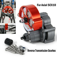 CNC Aluminum Reverse Transmission Gearbox Set for Axial SCX10 1/10 RC Crawler