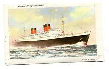 Vintage Ship Lettercard CUNARD RMS QUEEN ELIZABETH unused