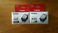 2x Original CANON PG 645 CL 646  Ink Cartridges MG2560/MG2460/MG2960
