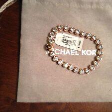 Michael  Kors  ROSE Gold Tone Tennis  Park Avenue Crystal Bracelet MKJ4793 NWOT