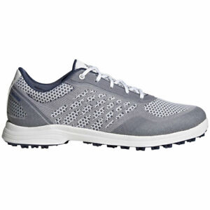 New Womens Adidas Alphaflex Sport Spikeless Golf Shoes White / Indigo Sz 7 M