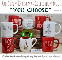 "Rae Dunn Mug Christmas Collection SANTA BELIEVE COCOA ""YOU CHOOSE""NEW''19-'20"