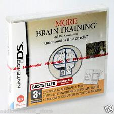 MORE BRAIN TRAINING DEL DR. KAWASHIMA nintendo DS DSi LITE NUOVO Compatibile 3ds