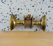 Vintage Antique Brass Door Knobs Handles with Spindle