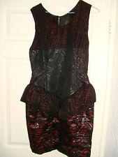 Sleeveless Crew Neck Peplum Dresses Size Petite for Women