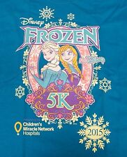 Frozen Run Disney 5k 2015 Youth Medium (Ym) Children's Miracle Network T-Shirt