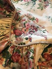 CROSCILL Home Pillow SHAM Cottage Shabby Chic LARGE Floral Standard Size