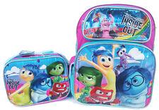 "Disney Inside Out 16"" Large School Backpack Lunch Bag 2pc Set"