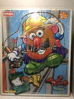 1997 Playskool Mr Potato Head Toolbelt Tater 8 Piece Wooden Puzzle 163-11 Hasbro