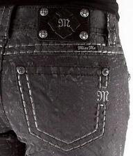 Miss Me Cargo Python Print Velvet Skinny Jeans Size 27