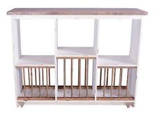 Geschirrregal Paris Holz Vintage Look Landhaus creme weiß Geschirr Regal Holz