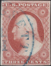 US Stamp: #11 Plated 19L4, Post Office Fresh 1856 Brownish Carmine with More Red