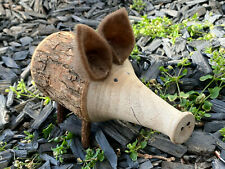 Holzschwein 'Lucky' Deko Schwein natur Herbst Handarbeit 100 % natur Dekoration