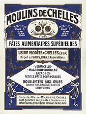 AD VINTAGE PICHOT MOULINS DE CHELLES PATE PASTA FOOD ART PRINT POSTER LF224