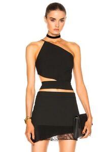 Michelle Mason Asymmetrical one shoulder bandeau top size 2 sold out!!