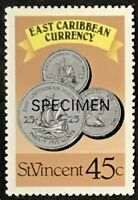 St. Vincent #1078b MNH Specimen CV$0.60 East Caribbean Currency Coins Perf 13...