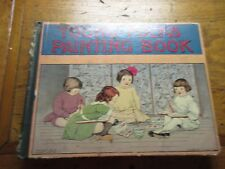 """1913  CHILDREN BOOK """"YOUNG FOLKS PAINTING BOOK"""" EASY DRAWING LESSONS ill."""