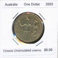 Australia, 2003 One Dollar, $1, Elizabeth II (Suffrage) - Choice Uncirculated