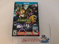 * New * Star Fox Zero Nintendo Wii U + BONUS GAME StarFox Guard * Sealed * USA