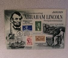 Abraham Lincoln Sesquicentennial 1809 / 1959  Stamp / Cover Postmark May 30 1959