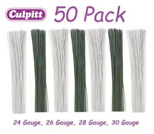 50pck Culpitt Florist Wire Coloured Floral Gumpaste Sugar Sugarcraft Flowers