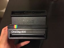 Vintage Polaroid 600 One Step Rainbow Stripe Land Camera Retro Black