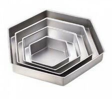 "Wilton Hexagon Shaped Cake Pans Set 4 New deep 2"" Wedding CLEARANCE Party"