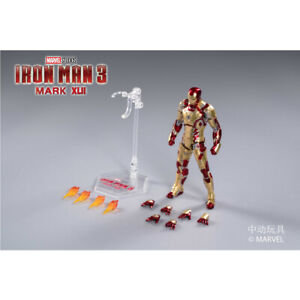 ZD Toys Marvel Series IRON MAN 3 MK42 7 Inch Movable Action Figure Model