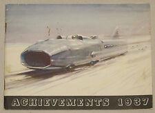 Achievements 1937 Wakefield Castrol  Australia to England Prospekt brochure
