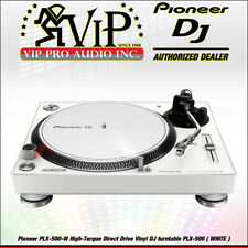 Pioneer PLX-500-W High-Torque Direct Drive Vinyl DJ turntable PLX-500 WHITE MINT