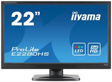 "IIYAMA ProLite E2280HS écran 22"", HD, haut-parleurs intégré, stereo speakers NEW"
