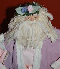 Vtg 1990s Santa Claus Christmas Tree Topper Figurine Paper Mache Doves 15�