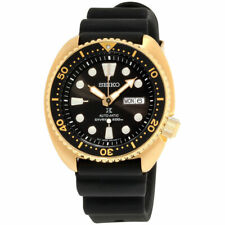 Seiko Prospex Automatic Divers 200 Mens Black Strap Watch SRPC44