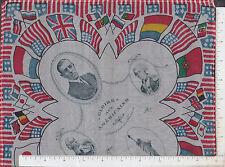 9800 Political silk Woodrow Wilson Lafayette Statue Liberty Gloire Aux Americain