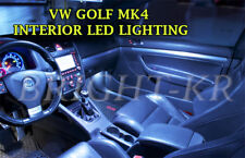 VW GOLF MK4 INTERIOR UPGRADE FULL PURE BRIGHT WHITE ERROR FREE LIGHT KIT