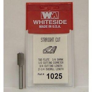 WHITESIDE 1025 STRAIGHT BIT 1/2CD 3/4CL 1/4SH 2-1/4OAL 2FL ROUTER BIT