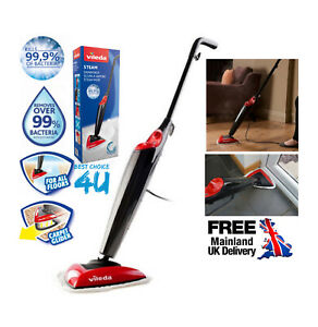 Vileda Steam Mop, Kills 99.9% of Bacteria Without Cleaning Chemicals -UK VERSION