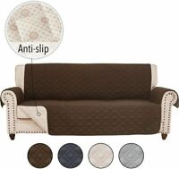 Anti-slip Sofa Couch Slipcover Cover for Leather Furniture Protector Pet Kid Mat